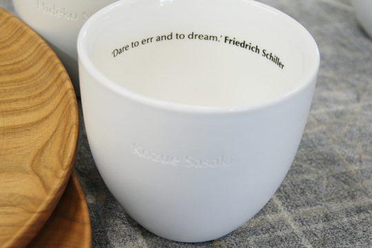 陶器のコップに名入れ