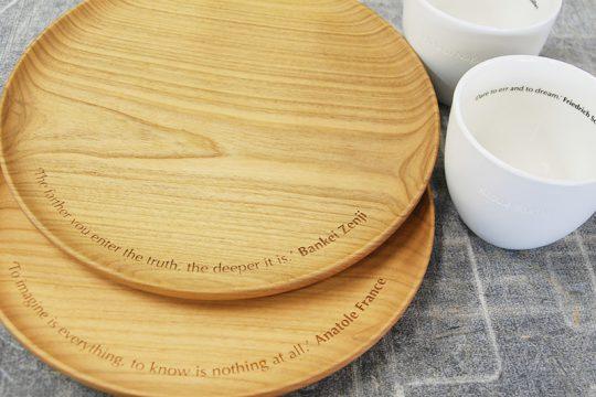 木皿レーザー彫刻